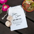 Personalised Engraved Date Night Dice Game with Calico Bag