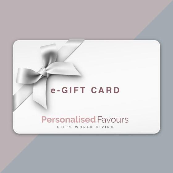 Personalised Favours digital eGift card