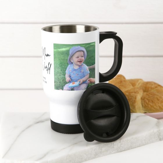 Personalised Photo Printed Mother's Day Stainless Steel Insulated Travel Mug 440ml Present