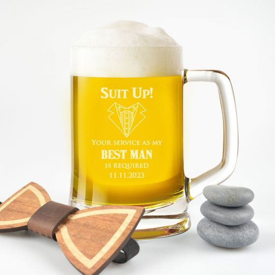 Will You Be My Best Man Beer Mug