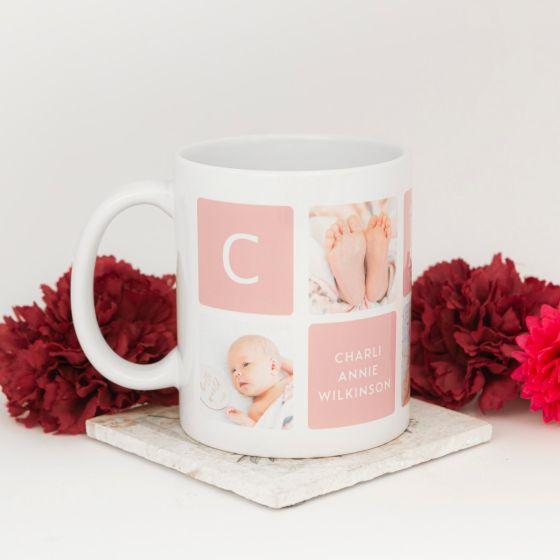 Personalised Newborn Baby Photo Printed Coffee Mug 325ml