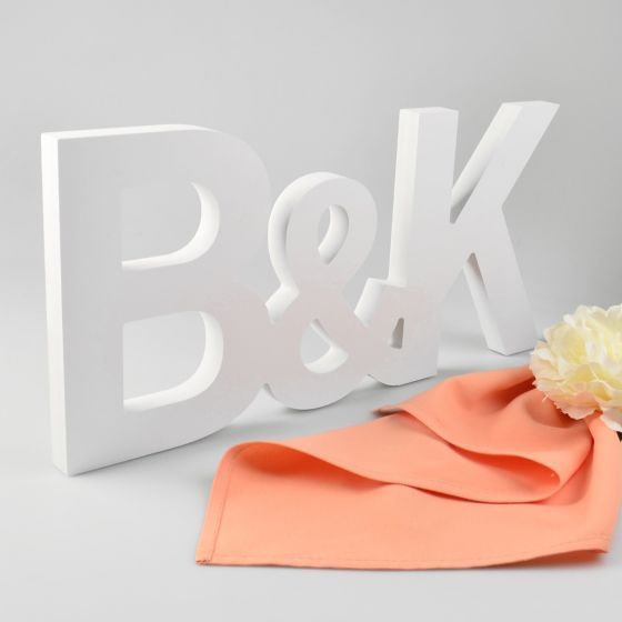 Custom designed Initial Set Timber Cut Painted White Wedding Reception