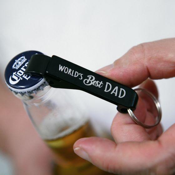 Black Father's Day Bottle Opener Keyring