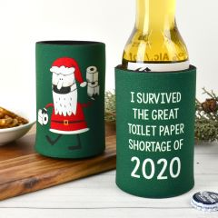 Christmas Printed Toilet Paper Shortage Green Stubby Holder