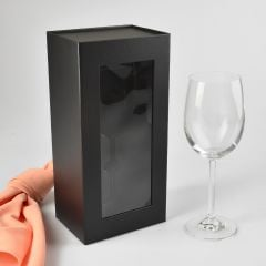 Wine Glass Presentation Gift Box With Magnetic Closing Lid
