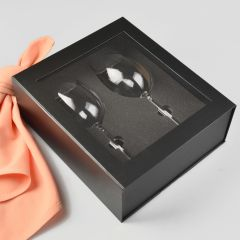 Twin Wine Glass Presentation Gift Box With Magnetic Closing Lid
