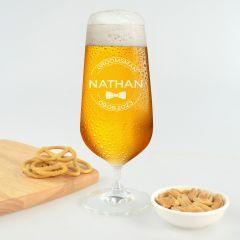 Groomsman Stemmed Beer Glass