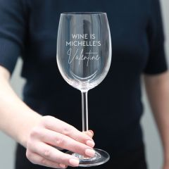Personalised Engraved Anti-Valentine's Day Wine glass Present
