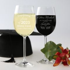 Personalised Engraved Graduation wine glass present