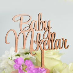 Wooden Hexagon Birthday Cake Topper