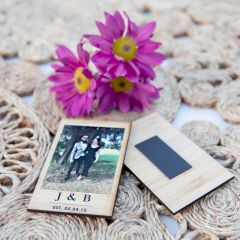Personalised Bamboo Single Polaroid Photo Print with Magnet