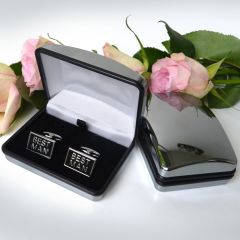 Best Man Cufflinks with Silver Presentation Gift Box