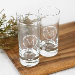 Personalised Engraved 365ml High Ball Glass Barware Housewarming Gift
