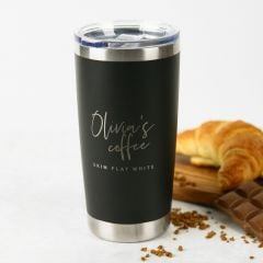 Personalised Engraved Birthday Stainless Steel Insulated Travel Mug 590ml