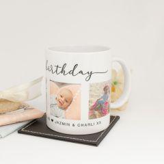 Personalised Birthday Full Colour Photo Printed Coffee Mug 325ml