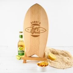 Personalised Engraved Wooden Birthday Surfboard Office Decoration Present