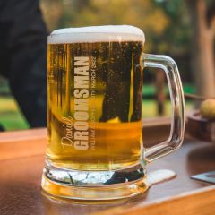 Engraved Wedding Beer Mug for Groomsman