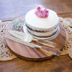 Personalised Engraved Stainless Steel Wedding Cake Knife and Server