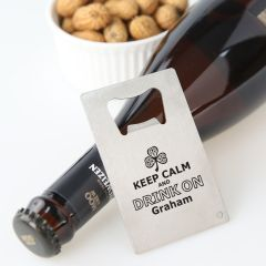 Personalised Engraved Housewarming, Birthday or Farewell Credit card Bottle Opener Present