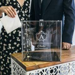 Personalised Engraved Christening Baptism Acrylic Wishing Well Box