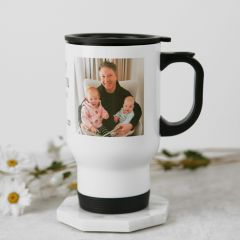 Personalised Photo Colour Printed White Black Travel Keep Reusable Coffee Cup Mug Christmas Present