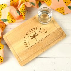 Personalised Engraved Corporate Logo Premium Rectangle Wooden Serving Cheese Chopping Boards