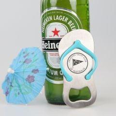 Personalised Engraved Company logo Blue Strap Metal Bottle Opener Promotional Gift