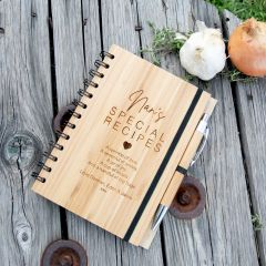 Personalised Engraved Wooden Nana Special Recipe Book