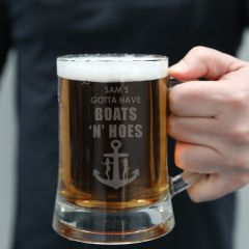 custom engraved name beer mug rude gift idea boats n hoes