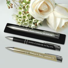 Engraved Designer Pen with Velvet Pouch