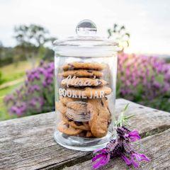 Personalised Engraved Glass Cookie Jar
