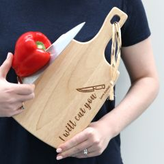Wooden engraved personalised chopping cheese board inappropriate gift