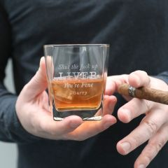 Shut Up Liver Personalised Scotch Glass