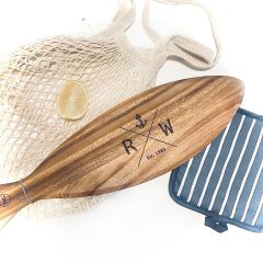 Personalised Engraved Fish Shaped Acacia Wooden Birthday Present