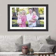Wall Hanging Acrylic Family Photo Print in Black Wooden Frame