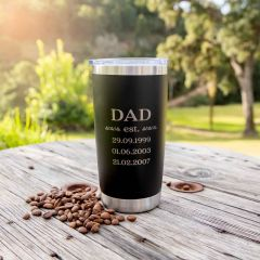 Personalised Engraved Father's Day Stainless Steel Insulated Travel Mug 590ml
