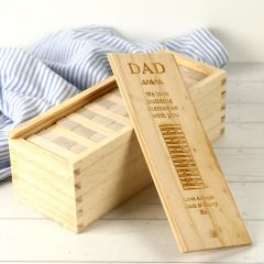 Personalised Engraved Wooden Jenga Tumbling Tower Game Father's Day Gift