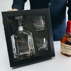Personalised Engraved Godparent Decanter Gift Set - Premium Whiskey Decanter PLUS 2 Scotch Glasses