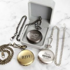 Personalised Engraved Godparent Pocket Watch Present For Christenings, Baptisms and Naming Days
