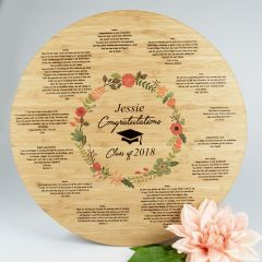 Personalised Printed Bamboo Graduation Sign