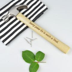 Personalised Engraved Valentine's Wooden Hammer Present
