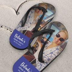 Personalised Colour Printed Hen's Party thong Flip Flop Jandal Favour