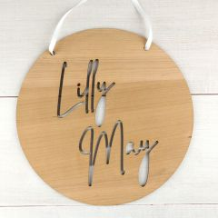 Personalised Laser Cut Wooden Name Plaque Door Sign