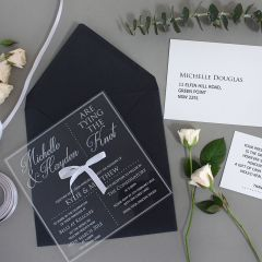 Engraved Clear Acrylic Wedding Invitation Package