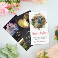 Full Colour Printed 'Thank You' Wedding Magnets