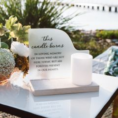 Custom Designed Printed Wedding Memorial Candle stand for Receptions & Ceremony