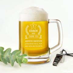 Coach Award Beer Mug