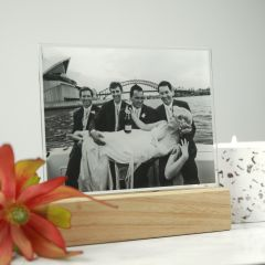 Photo Print Available in Full Colour or Black & White to be displaced on a wooden base