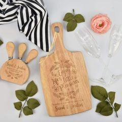 Personalised Engraved Valentine's Day Picnic Hamper- Paddle boards, Cheese knife block and twin champagne glasses