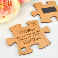 Customised Professionally Laser Engraved anniversary puzzle piece gift
